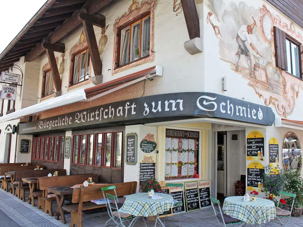 Aussenansicht Wirtschaft zum Schmied Oberstdorf